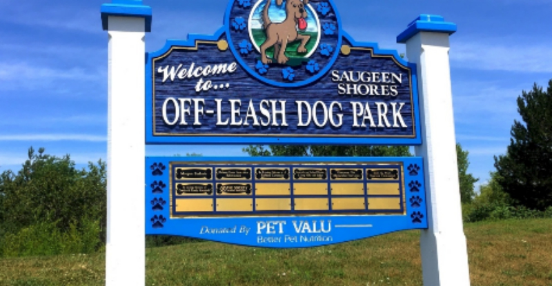 Sign of an Off-Leash Dog Park