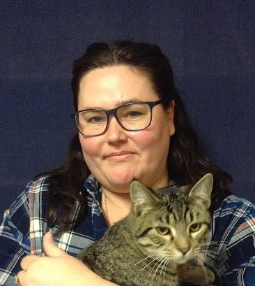 Melanie Hamilton holding a cat